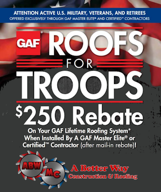 We Support Roofs for Troops